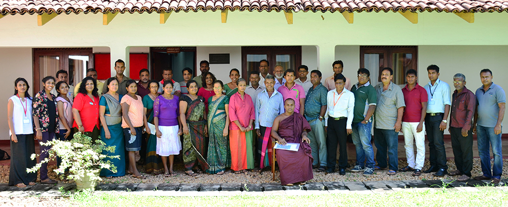 CBR Grantees in Sri Lank at a Capacity Building Workshop October 2015