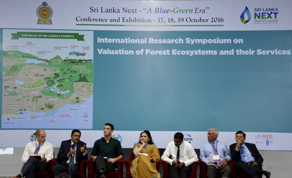 Guest speakers at the Research Symposium to discuss issues on valuation of forest ecosystems and their services 1024x626