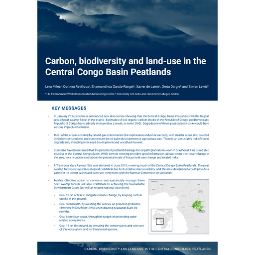 Congo the carbon biodiversity and land use in the central congo basin peatlands low res en fandeluxe Choice Image