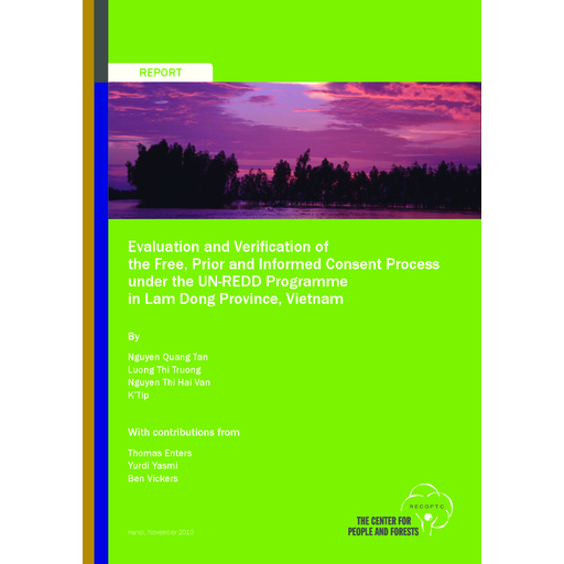 Evaluation And Verification Of The Free Prior And Informed Consent