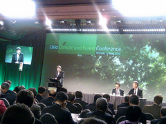 UNDP Administrator Helen Clark speaks at the Oslo Climate and Forest Conference.,May 2010