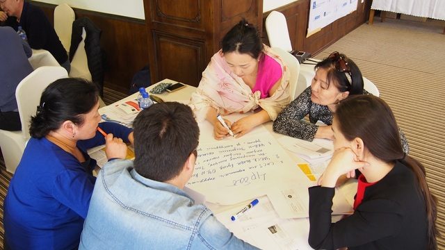 Mongolia workshop participants discuss SIS objectives