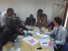 1 Interactive session with transparent maps / Session interactive avec transparents
