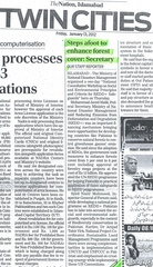 Pakistan SEPC REDD+ News article_12 January