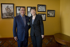 Helen Clark and DRC Minister of Environment Endundo in Oslo