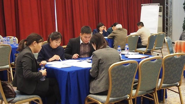 Mongolia: Group discussion during PLR review