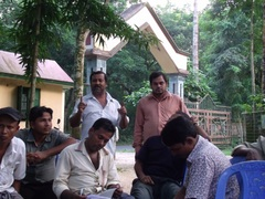 Focus group discussions on forest governance with timber traders and sawmill owners - Modhupur Bangladesh September 2013